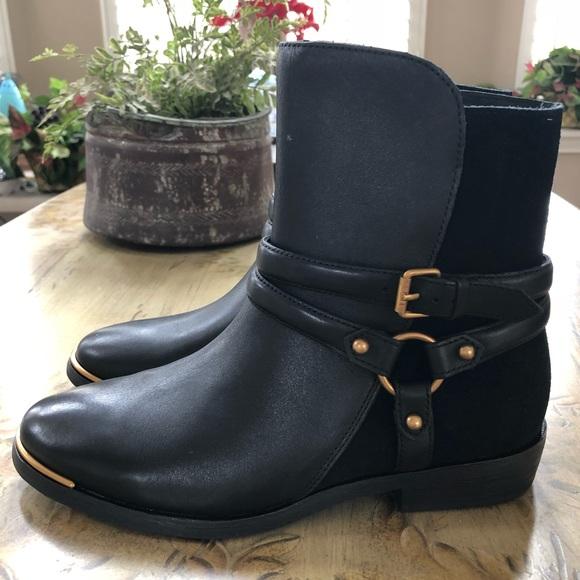 de0f849dd58 🎁UGG Kelby Suede Harness Boot In Black NEW🎁